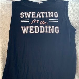 Sweating for the wedding tank top! Size XL